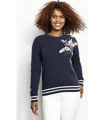 cashmere embroidered sweater, x large