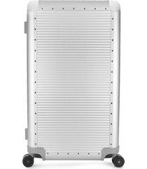 fpm milano ribbed trunk suitcase - grey
