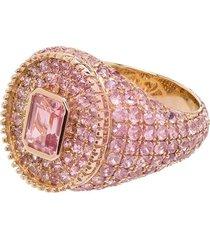 o thongthai 9kt yellow gold fancy cut tourmaline sapphire ring