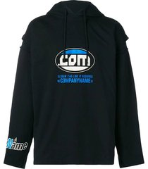 patch hoodie black