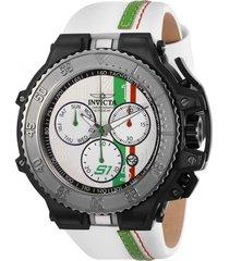 reloj invicta blanco modelo 284gh para hombre, colección s1 rally