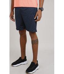bermuda masculina esportiva ace básica com bolsos azul marinho