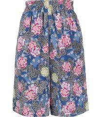 duoltd multi-pocket wide shorts - blue
