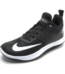 tenis basketball negro-blanco nike fly by low ii