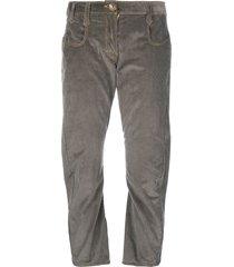 atelier bâba amado twisted corduroy trousers - grey