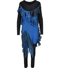 marine serre aquanaut silk scarves dress