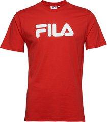 unisex classic pure ss tee t-shirts short-sleeved röd fila