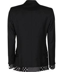 dolce & gabbana black virgin wool-silk blend blazer
