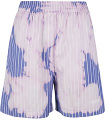 msgm faded striped shorts