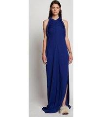 proenza schouler crepe jersey twist front dress cobalt/blue 12