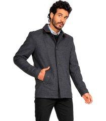 abrigo clásico gris guy laroche