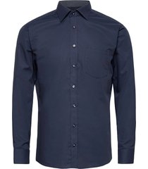 cotton twill with dotted contrasts skjorta business blå bosweel shirts est. 1937