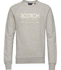 signature scotch & soda sweat in regular fit sweat-shirt trui grijs scotch & soda
