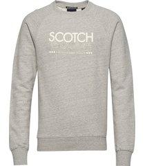 signature scotch & soda sweat in regular fit sweat-shirt trui grijs scotch & soda
