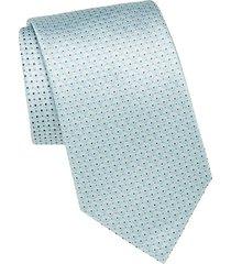 dot patterned silk tie
