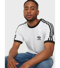 adidas originals 3-stripes tee t-shirts & linnen white