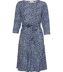 2nd june blossom jurk knielengte blauw 2ndday
