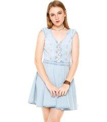 vestido my favorite thing(s) curto recorte azul