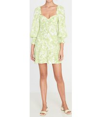 faithfull the brand women's arianne mini dress - floral - m