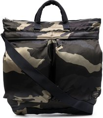 porter-yoshida & co. camouflage-print zipped tote bag - green