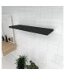 prateleira para banheiro mdf suporte inivisivel cor preto 90(c)x30(p)cm modelo pratbnp19