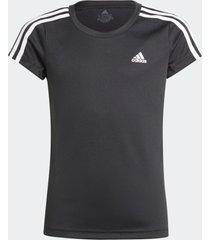 camiseta adidas camiseta designed 2 move 3-stripes preto - preto - menina - dafiti