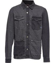 tjm cargo jacket crmxk overshirt zwart tommy jeans