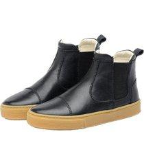 bota sneaker infantil couro stepsgreen resistente