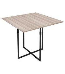 mesa de jantar quadrada estilo industrial novabras teka 90x90cm