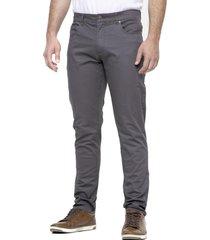 pantalón 5 bolsillos gris kostumo