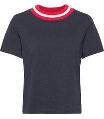 corrine tee t-shirts & tops short-sleeved blå morris lady