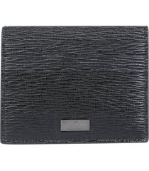 salvatore ferragamo card holder with logo plate