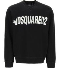 dsquared2 metal logo crewneck sweatshirt