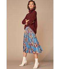 women's halogen oversized turtleneck tunic sweater, size small regular - grey