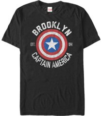 marvel men's comic collection captain america shield logo short sleeve t-shirt