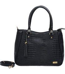 bolsa sacola sifra crocão preta