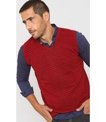 chaleco rojo mancini raya horizontal