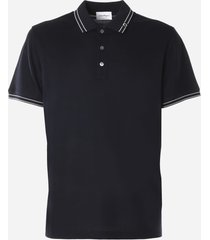 salvatore ferragamo gancio polo shirt in cotton