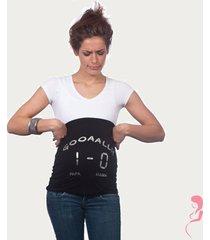 op en top zwanger zwangerschaps buikband gooaall 1-0 zwart