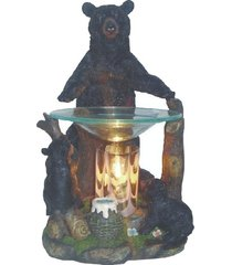 standing grizzly bear oil/tart warmer - compatible with scentsy and yankee candl