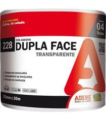 fita dupla face adere, transparente, 25 mm x 30 metros - 228