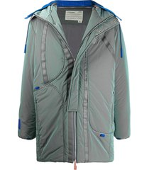 a-cold-wall* iridescent padded coat - green