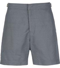 orlebar brown bulldog woven-print swim shorts - grey