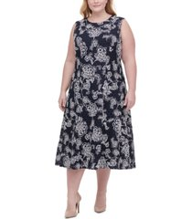 tommy hilfiger plus size boa vista paisley lace dress