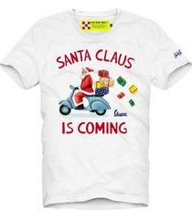 mc2 saint barth t-shirt man santa claus is coming print - vespa special edition®