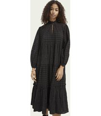 scotch & soda cotton dress in broderie anglaise