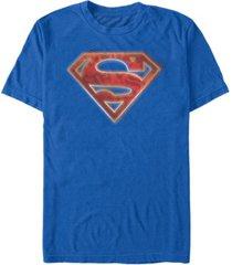 fifth sun dc men's superman man of steel graffiti logo short sleeve t-shirt