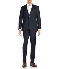 modern-fit peaked-lapel wool suit