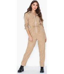 missguided cord drawstring jumpsuit jumpsuits
