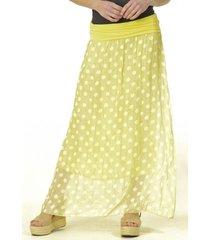 falda lunares amarillo bous